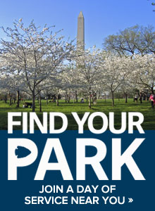 FindYourPark Days of Service: SCA is celebrating the National Park Service's 100th Anniversary with Days of Service to be held at National Parks and Sites like the Washington Monument and others  around the country