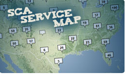 SCA Service map lets you know where SCA members have been working