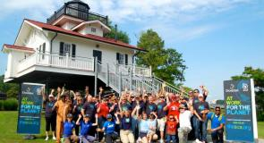 Domtar employees join SCA for riverfront cleanup