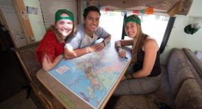 SCA member Grace Worm with co-Travelers