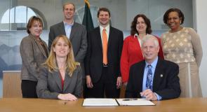 Washington, DC signing ceremony with USFS Chief Tom Tidwell, SCA President and CEO Jaime Berman Matyas