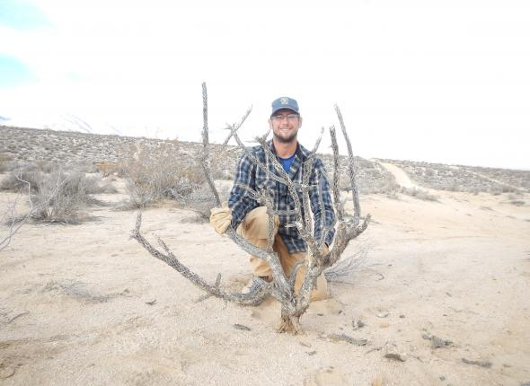 Dan and his impressive 37-point cholla cactus.