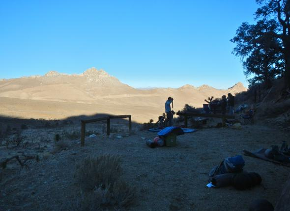 Setting Up Camp in Indian Wells Canyon