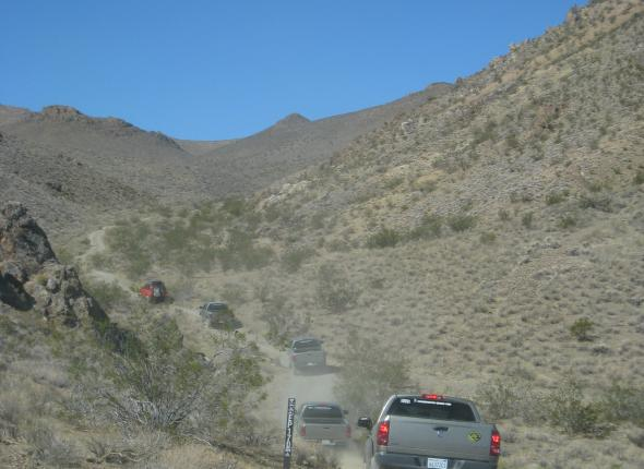 4x4 Training in El Pasos. Our menagerie of Dodge Trucks navigates rough terrain.