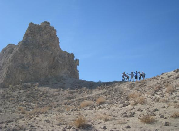 Crew at the Trona Pinnacles.