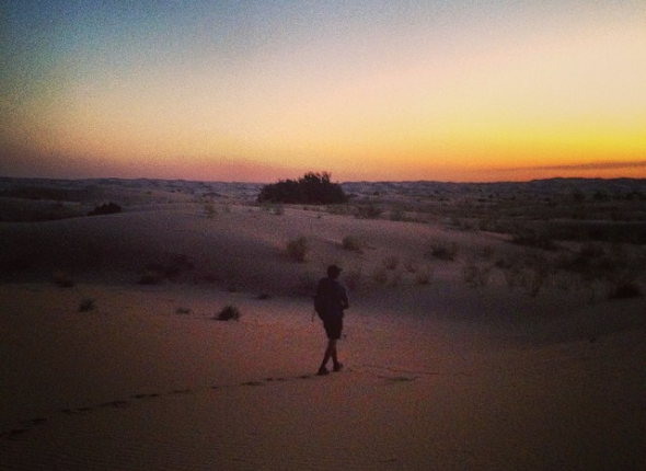 Night hike through the dunes... beautiful!