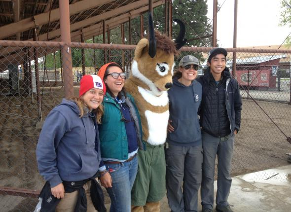 First Seymour the Pronghorn Antelope sighting, the crew was just tickled to meet him