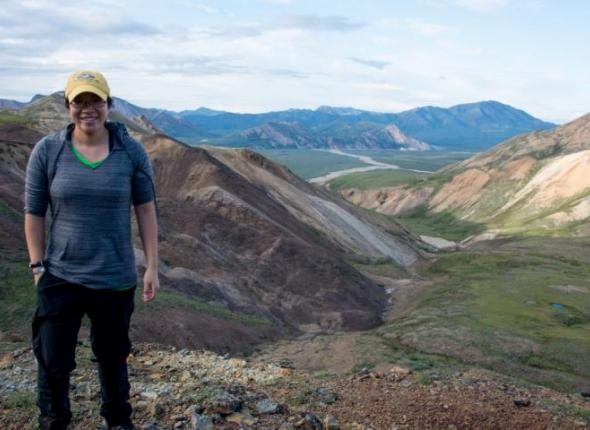 SCA alum Lian Law at Denali National Park, Alaska