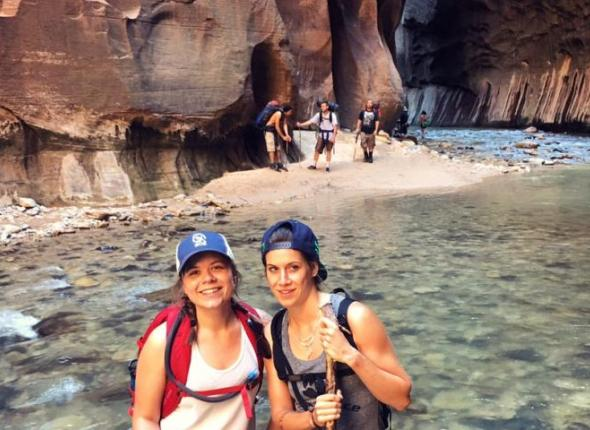 Writer Kiki Serantes hikes Zion National Park's famous Narrows trail.