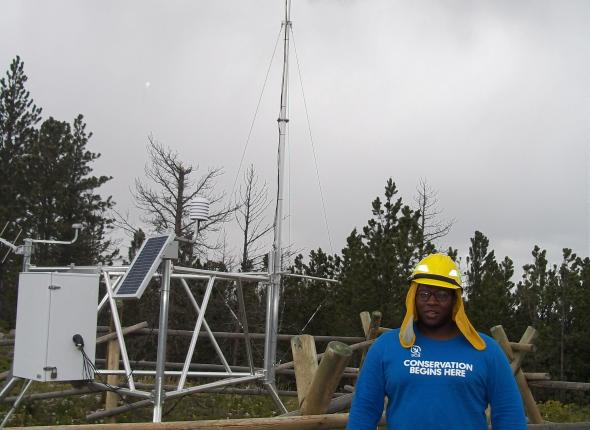 Corps member by Remote Automated Weather Station (RAWS)