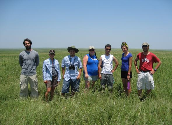Team photo at the Tallgrass Prairie Preserve.