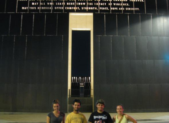Us at the OKC National Memorial.