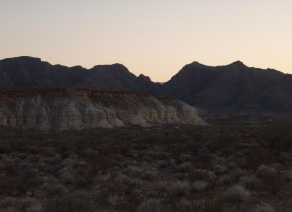 View from our campsite north of Moapa, NV