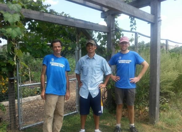 Oxford Community Garden: Keith, Frankie and Brendan!