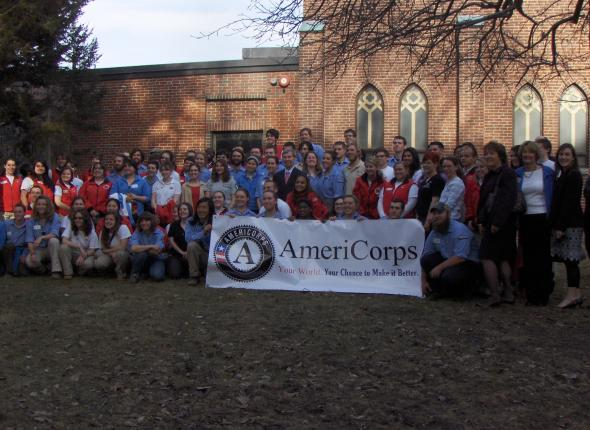 Launching Americorps week with the Governor