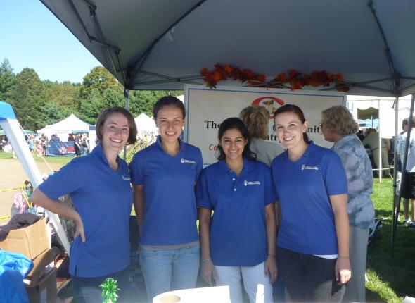 Chamae, Jenna, Bijal and Stacy tabling at the Chesire Fair