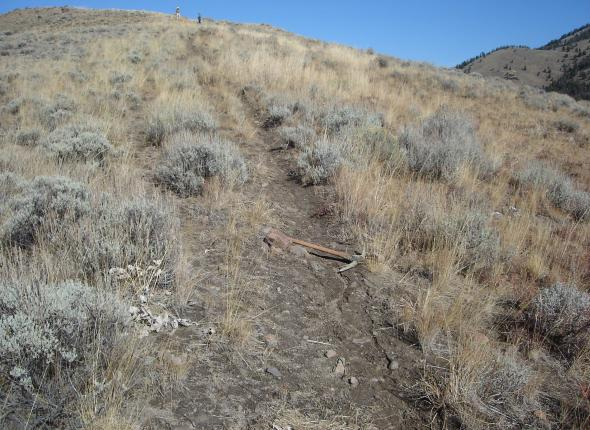trail after waterbar