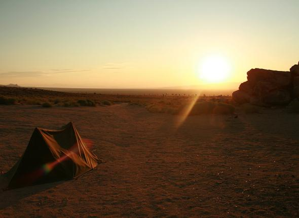 Sunrise at our camp in Jawbone