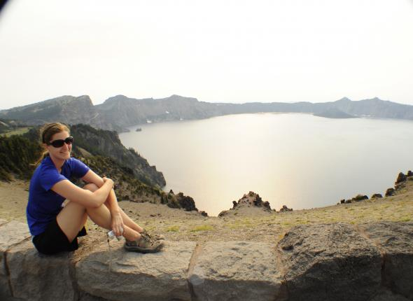 Katie at Crater Lake NP, OR