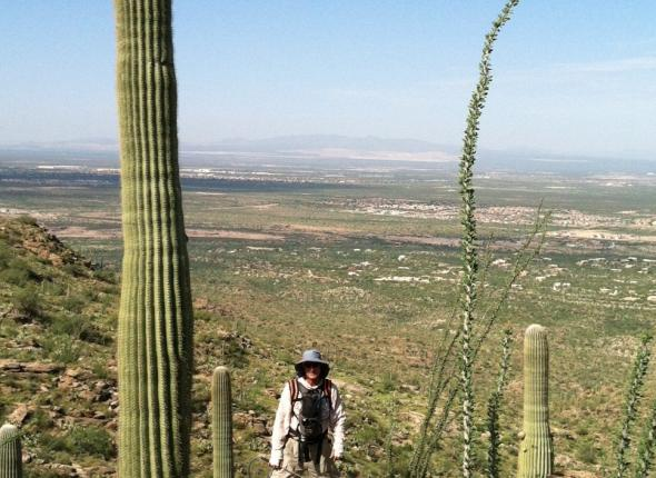 Bobby and Biotech Mike Ward.  Javelina Hill, Saguaro NP.