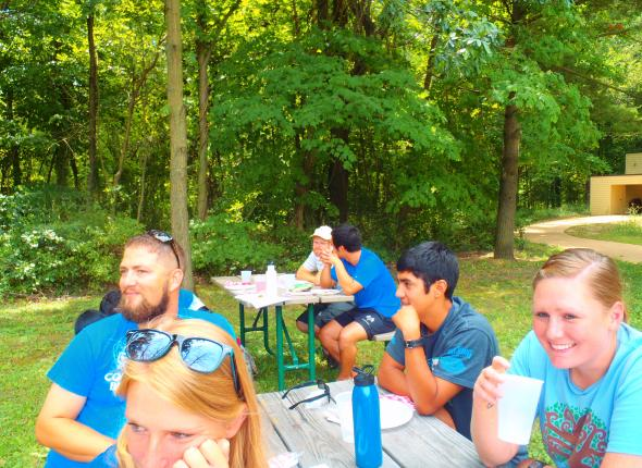 The team enjoying themselves at the Volunteer Appreciation Picnic