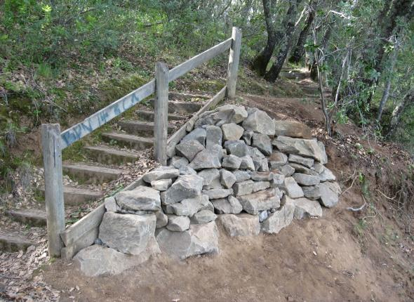 The finished rock retaining wall!