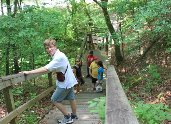 Conservation day: Sardis hike on the boardwalk trail.
