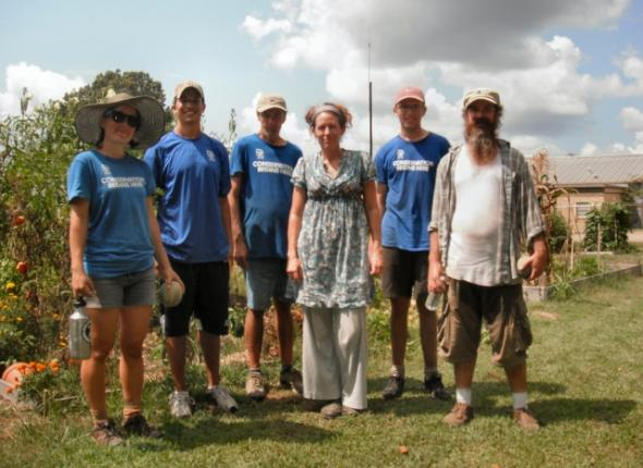 Oxford Community Garden: Sophie, Frankie, Keith, Vicki, Brendan and Mike!