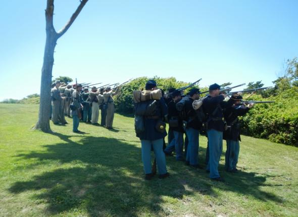 The end of the skirmish at Fort Macon