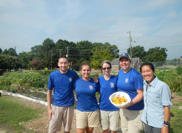The CWPP team at the Raleigh City Farm (with some delicious tomatoes!)