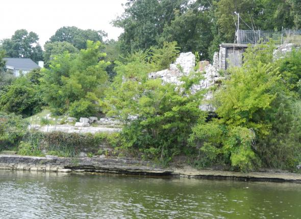 The remnants of Johnny Cash's house on Old Hickory Lake