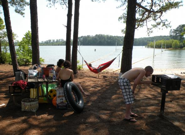 A beautiful day for a cook out at Victoria Day Use on Allatoona shores.