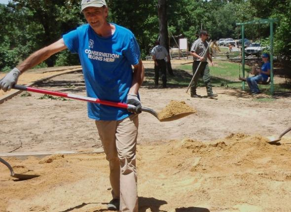 Hickory Ridge playground revitalization at Enid Lake. Keith