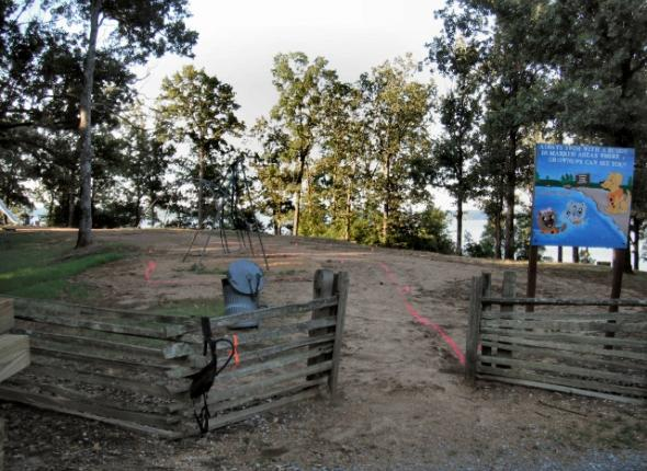 BEFORE Hickory Ridge playground revitalization at Enid Lake