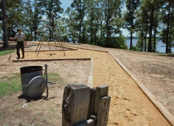 AFTER Hickory Ridge playground revitalization at Enid Lake