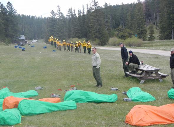 Deploying Fire Shelters