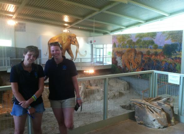 Allison and Kim at the Waco Mammoth Site