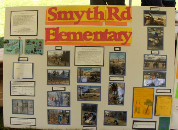 Service Learning Project displays