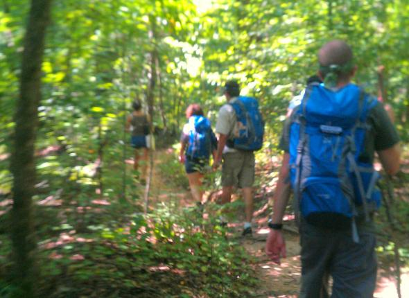 Atlanta Survey Team hikes the trails