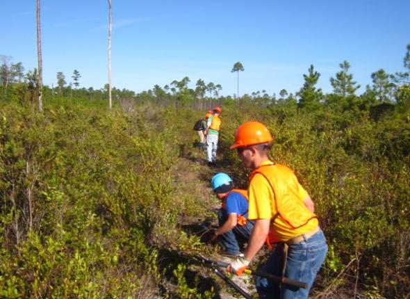 The Liberty Wilderness school joined us for two days of hard work in the Bradwell Bay Wilderness
