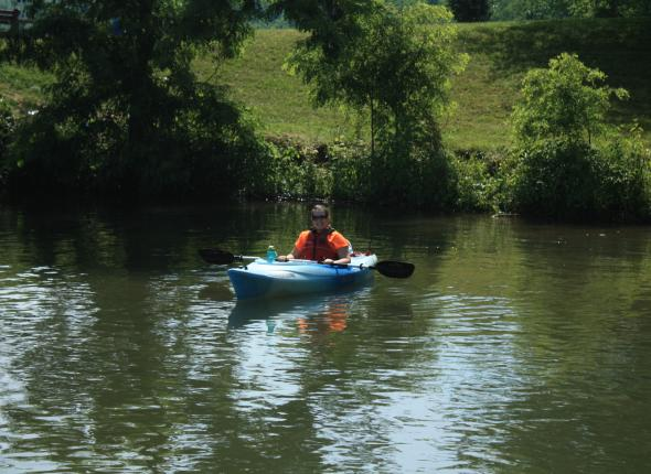 Kayaking on the Mon River Sojourn with Pennsylvania Environmental Council