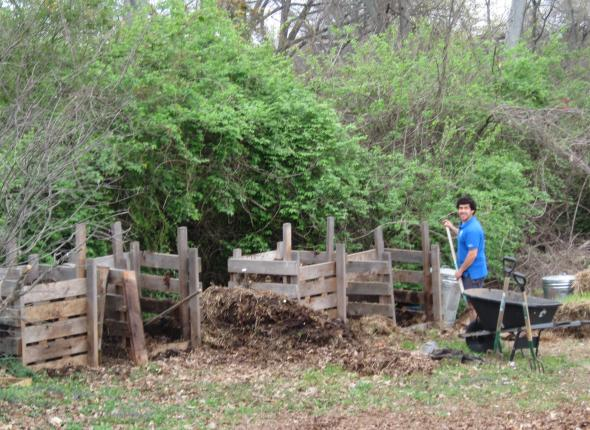 Nashville Food Project: Mike Vasquez turns compost.