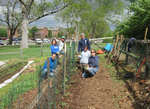 AFTER Nashville Food Project: From start to finish, ATL and Nashville ACE teams completed the cucumber bed!