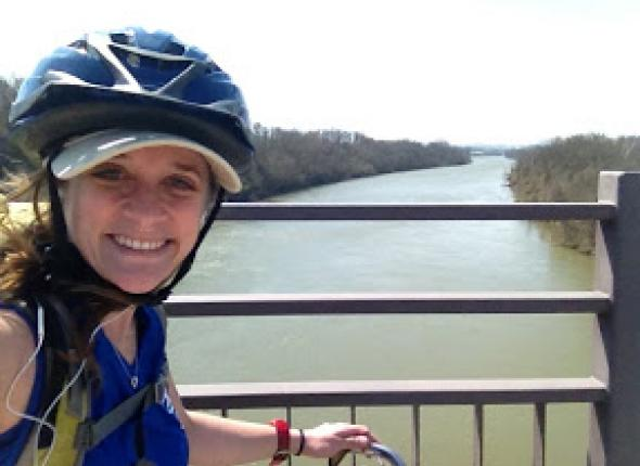 fearless leader of Cumming, GA: Leah taking a bike ride on Nashville's Greenway!