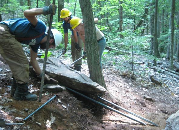 new trail benching