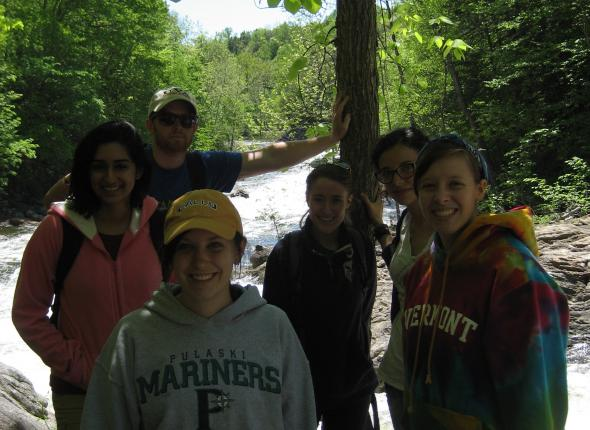 Stacy, Bijal, Jeff, Chamae, Jenna & Kayla on a hike!