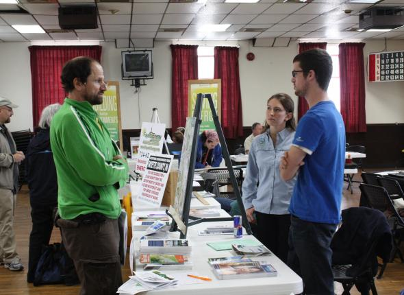 Jenna and Jeff tabling at the Sustainability Fair