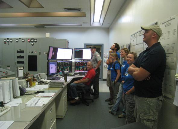 In the Control Room at Cordell Hull Dam
