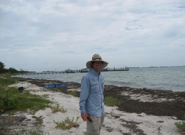 Dan Solmon just finishing a trail at Egmont Ley NWR, Florida.
