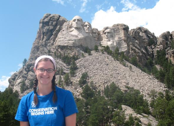 Katie at Mt. Rushmore